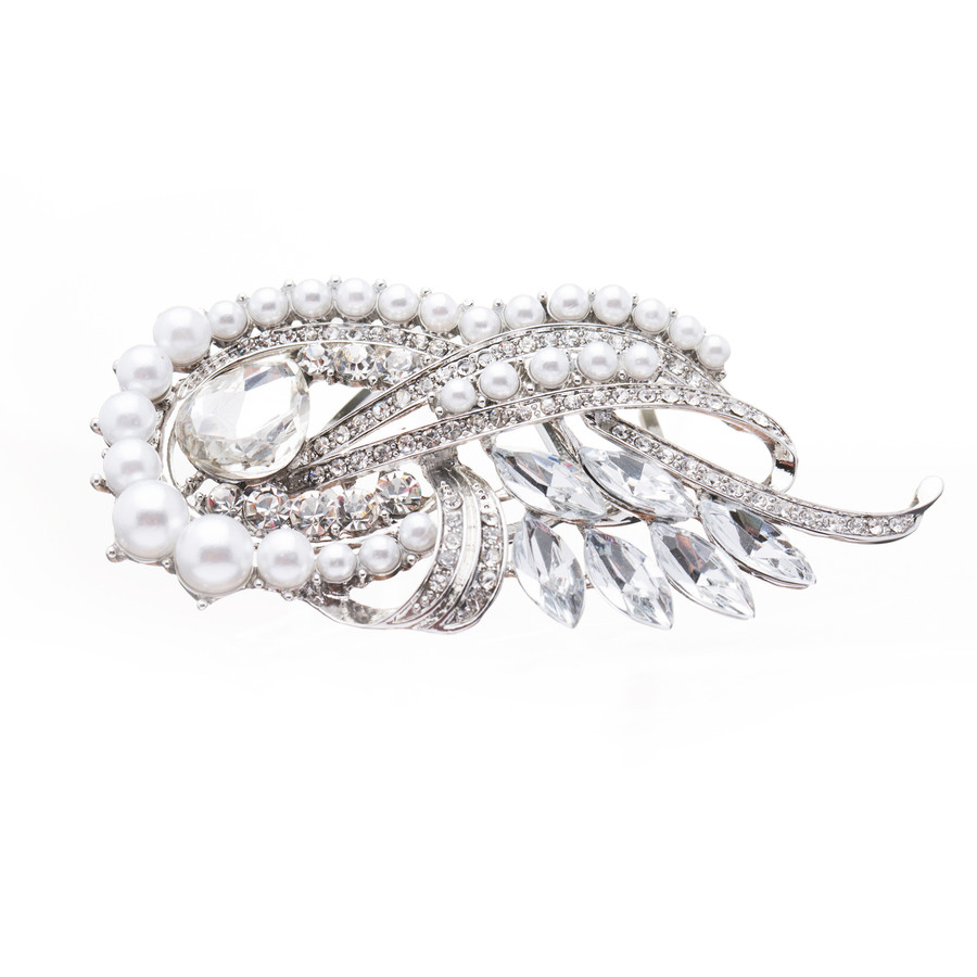 Bridal Wedding Jewelry Crystal Rhinestone Pearl Chic Hair Decorative Comb Pin