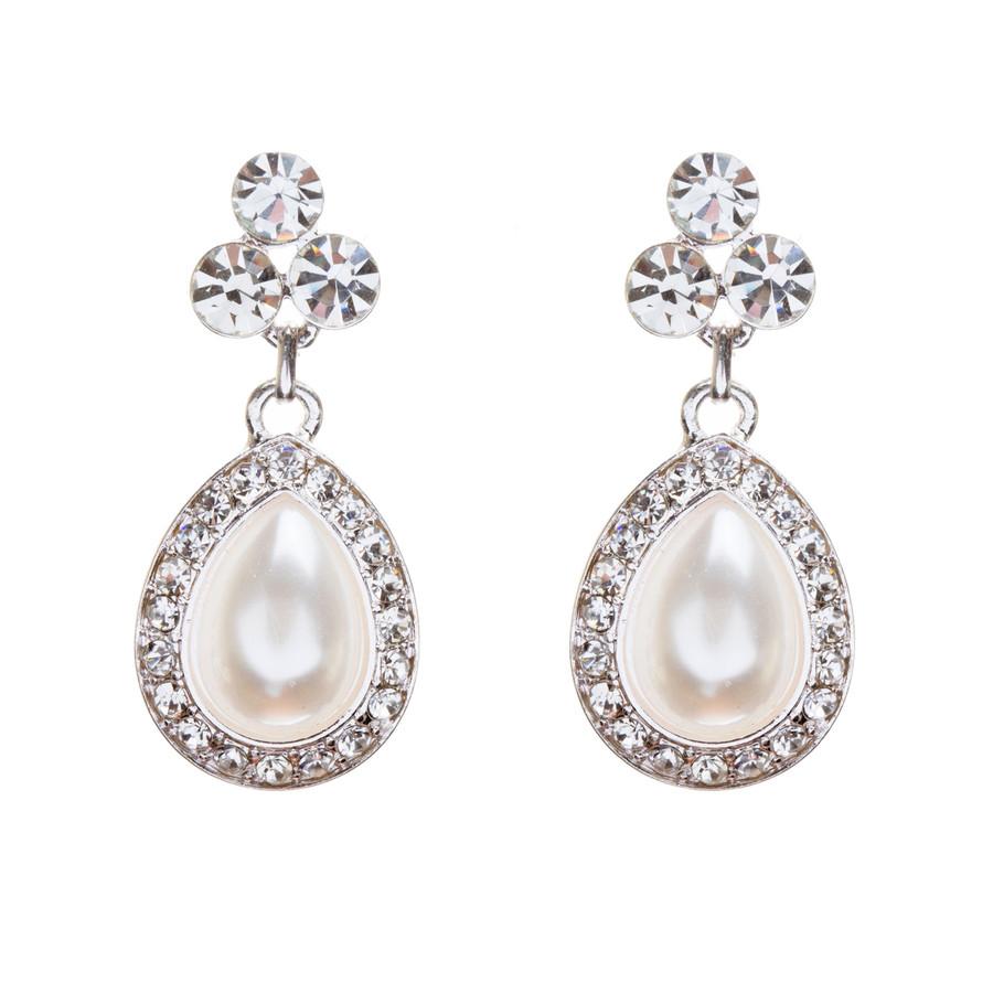 Bridal Wedding Jewelry Crystal Rhinestone Double Strand Pearl Classic Necklace