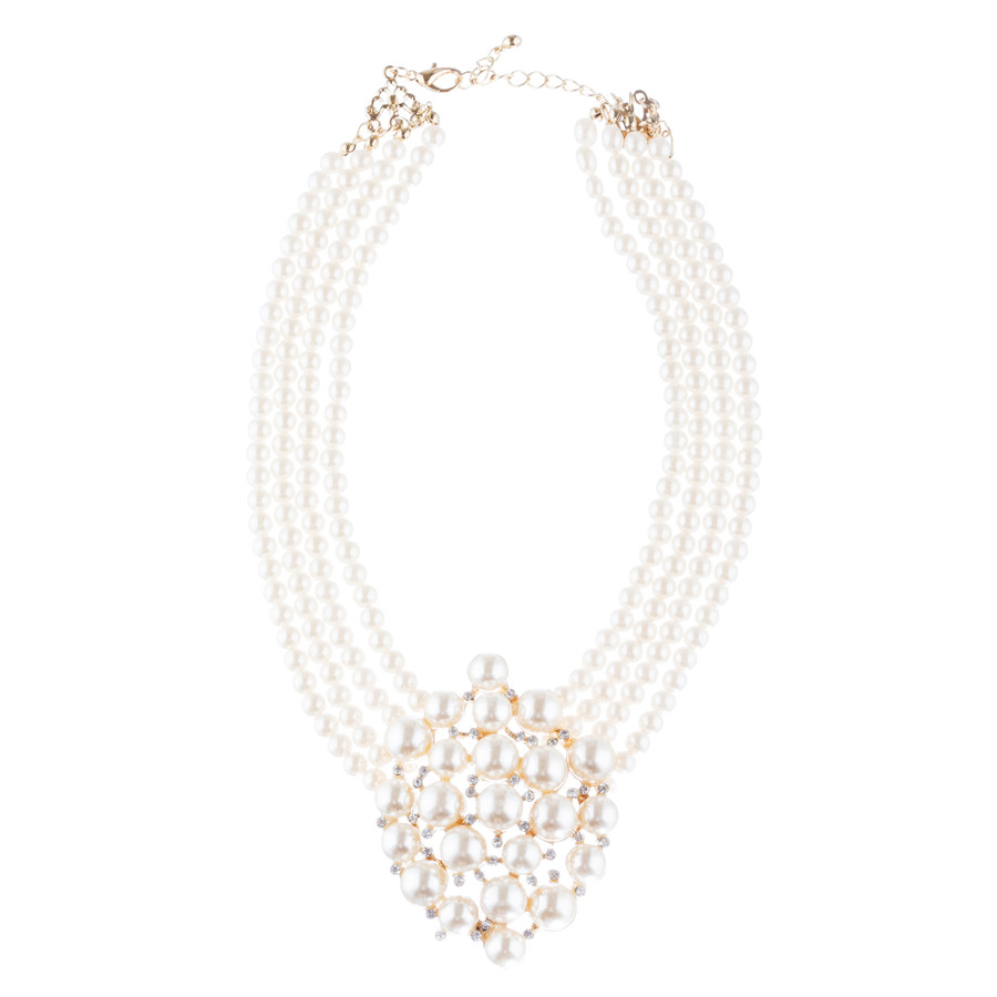 Bridal Wedding Jewelry Set Necklace Earring Crystal Rhinestone SM V Drop GD