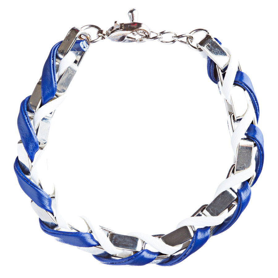 Casual Design Ordinary Yet Striking Wrap Around Braided Link Bracelet B487 Blue