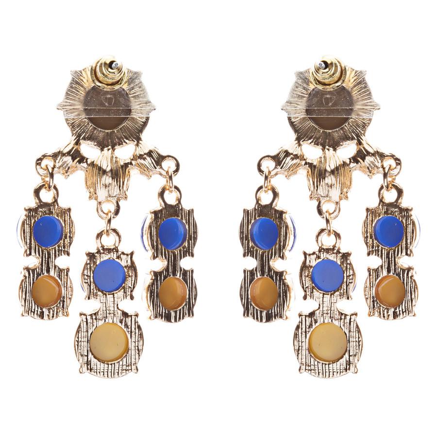 Contemporary Fashion Crystal Rhinestone Daring Design Dangle Earrings E852 Green
