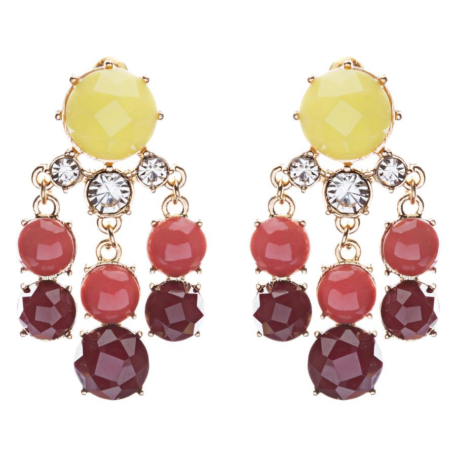 Contemporary Fashion Crystal Rhinestone Daring Design Dangle Earrings E852Yellow