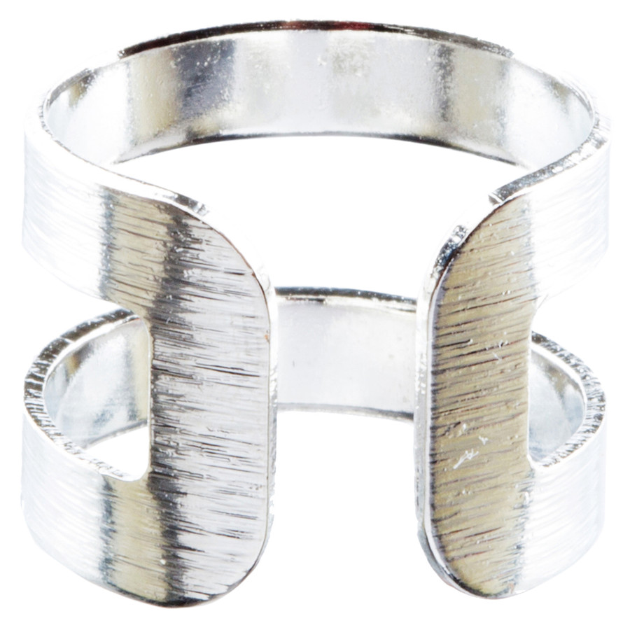 Modern Fashion Contemporary Open Band Wrap Around Design Ring R205 Silver