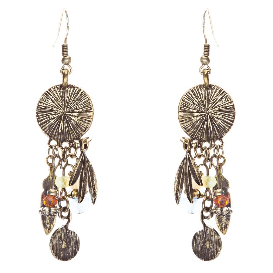 Tribal Fashion Captivating Long Drop Glass Beads Dangle Earrings E825 Multi