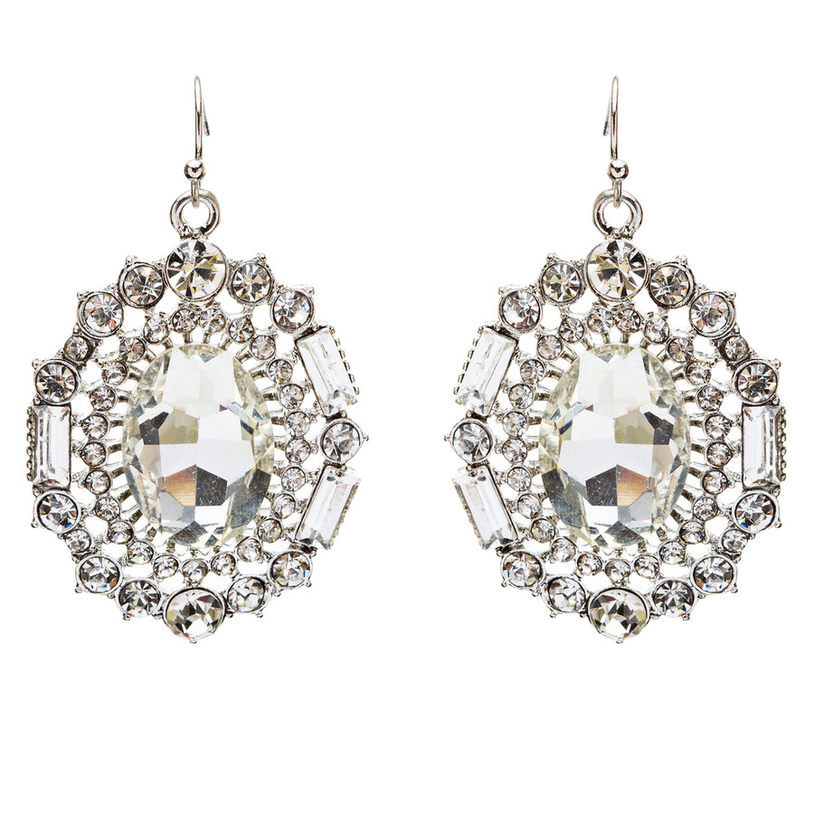 Exquisite Beautiful Crystal Rhinestone Dangle Bridal Fashion Earrings E738 SV