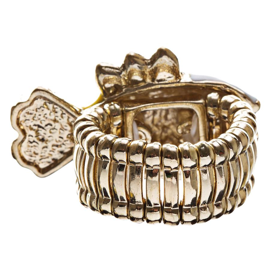Ocean Theme Crystal Rhinestone Fancy Fishlike Design Stretch Ring R90 Yellow