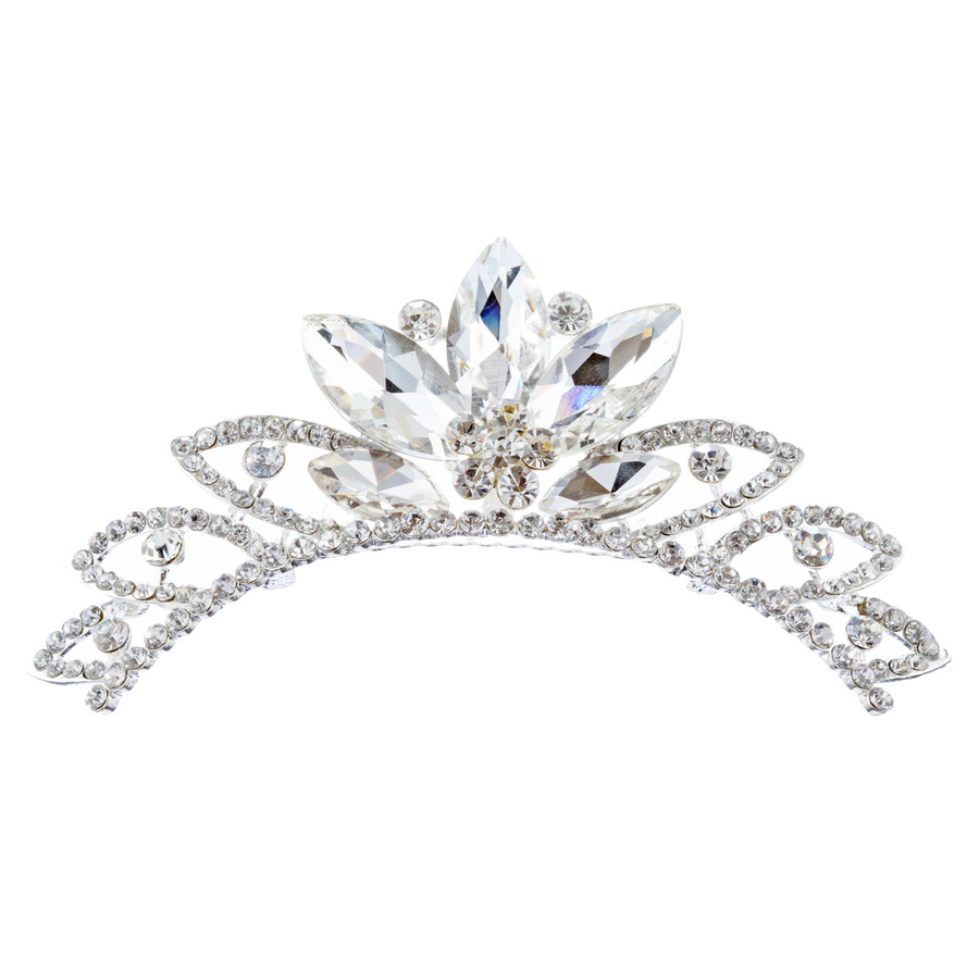 Bridal Wedding Jewelry Crystal Rhinestone Chic Design Hair Comb Tiara H134 SV