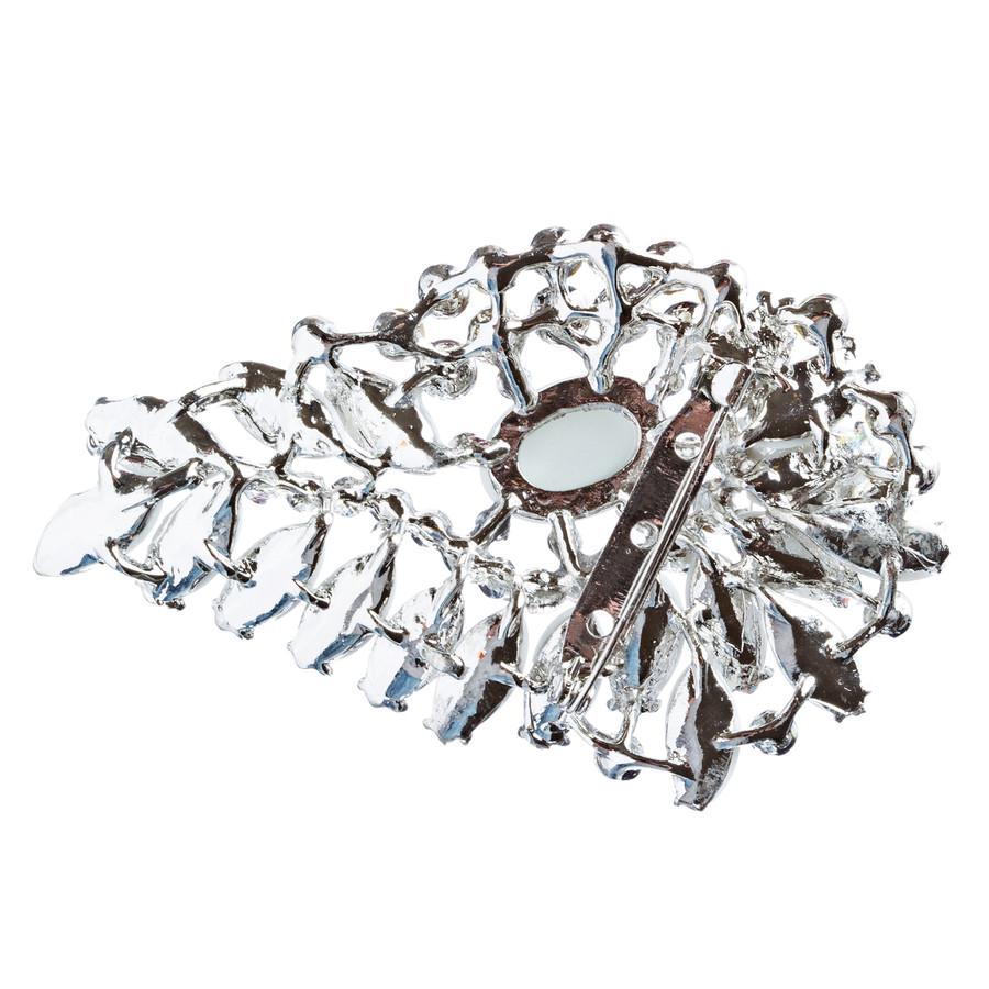 Bridal Wedding Jewelry Crystal Rhinestone Gorgeous Brooch Pin BH175 Silver