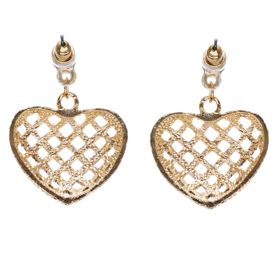 Valentine's Day Jewelry Crystal Rhinestone Charming Heart Dangle Earrings E933GD