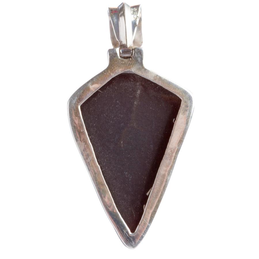 925 Sterling Silver Natural Gemstones Agate Druzy Pendant FJSVP2088