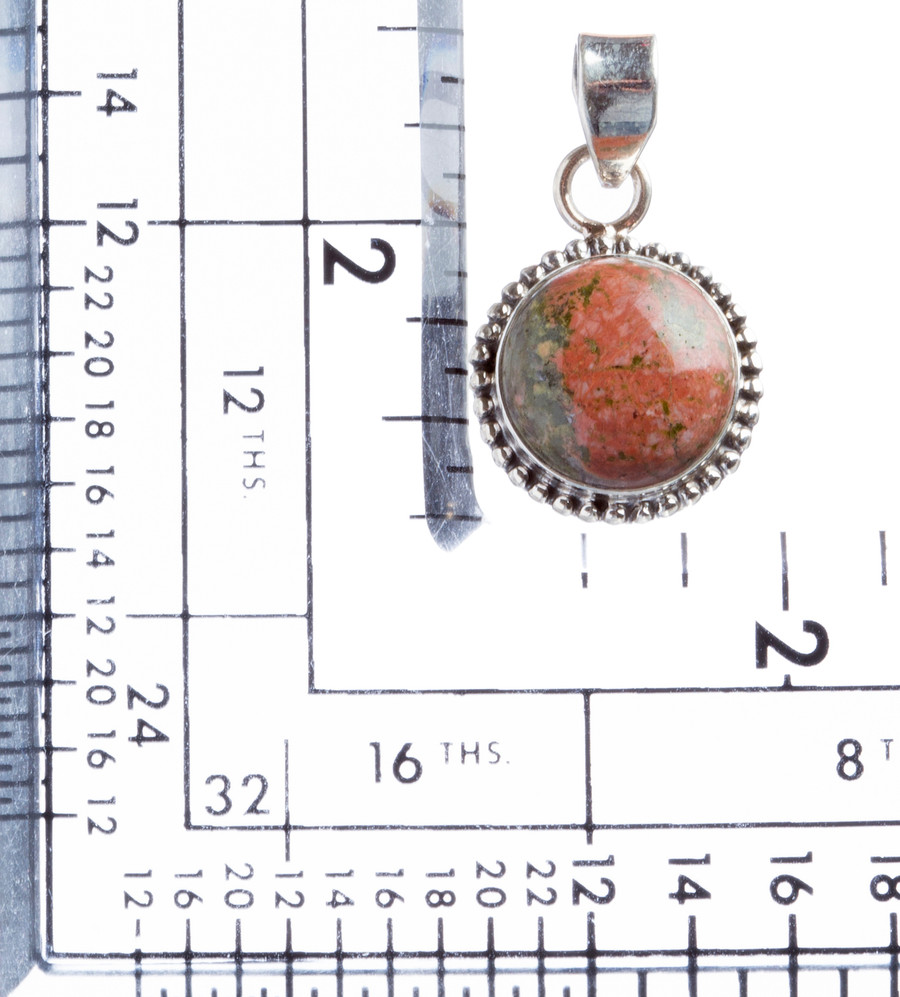 925 Sterling Silver Natural Gemstones Jasper Pendant FJSVP2100