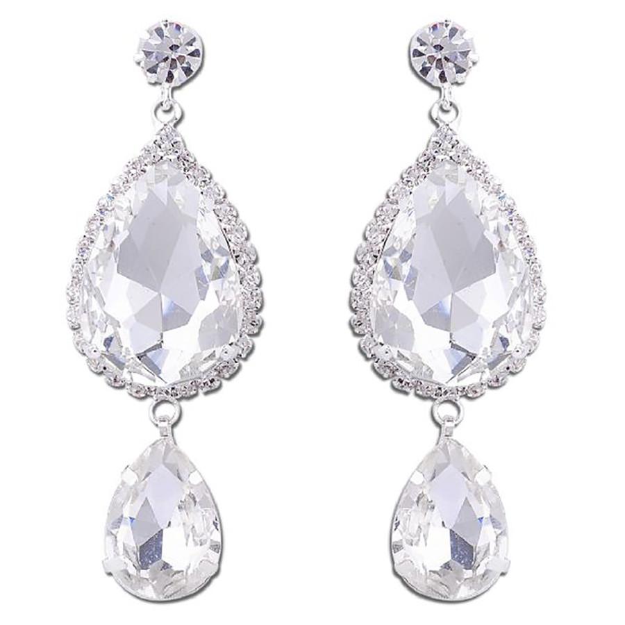 Bridal Wedding Jewelry Prom Crystal Fashion Gorgeous Dangle Earrings E1150 SV
