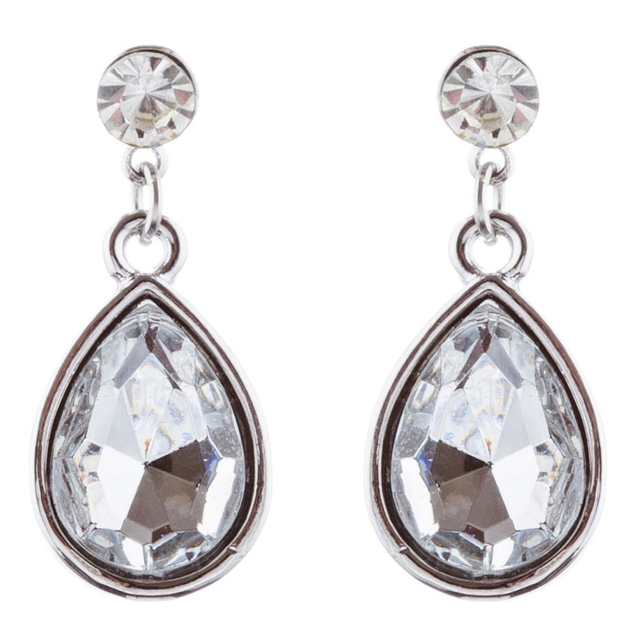 Bridal Wedding Jewelry Set Crystal Rhinestone Pearl Dazzle Royal Crest Necklace
