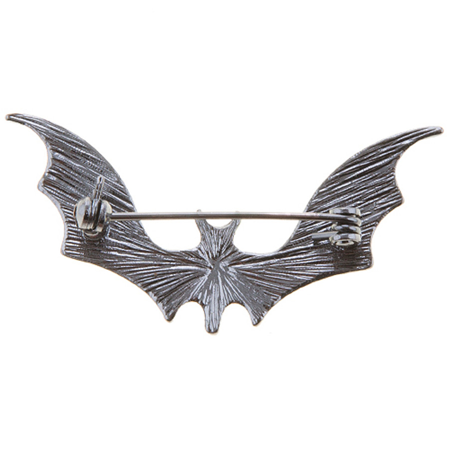 Halloween Costume Jewelry Spooky Bat Brooch Pin Neon Lime Green BH230