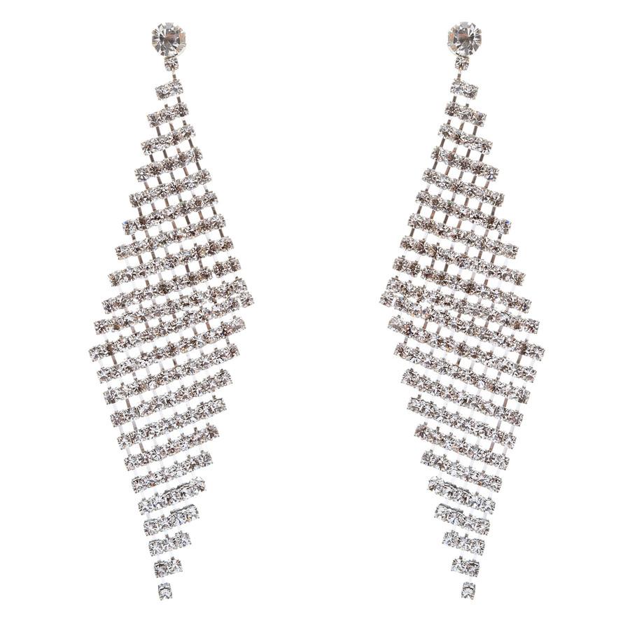 Bridal Wedding Prom Jewelry Crystal Rhinestone Cascade Dangle Earrings E709