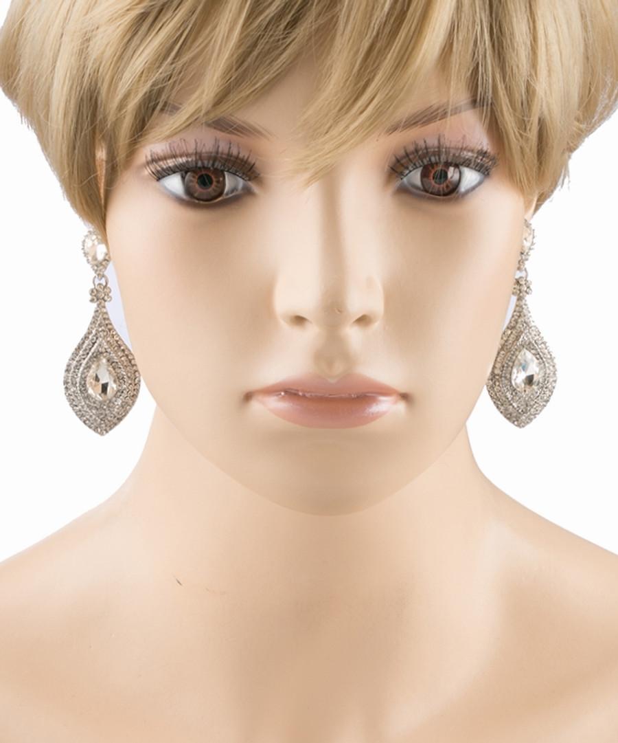 Bridal Wedding Prom Jewelry Crystal Rhinestone Chic Classic Dangle Earrings E612