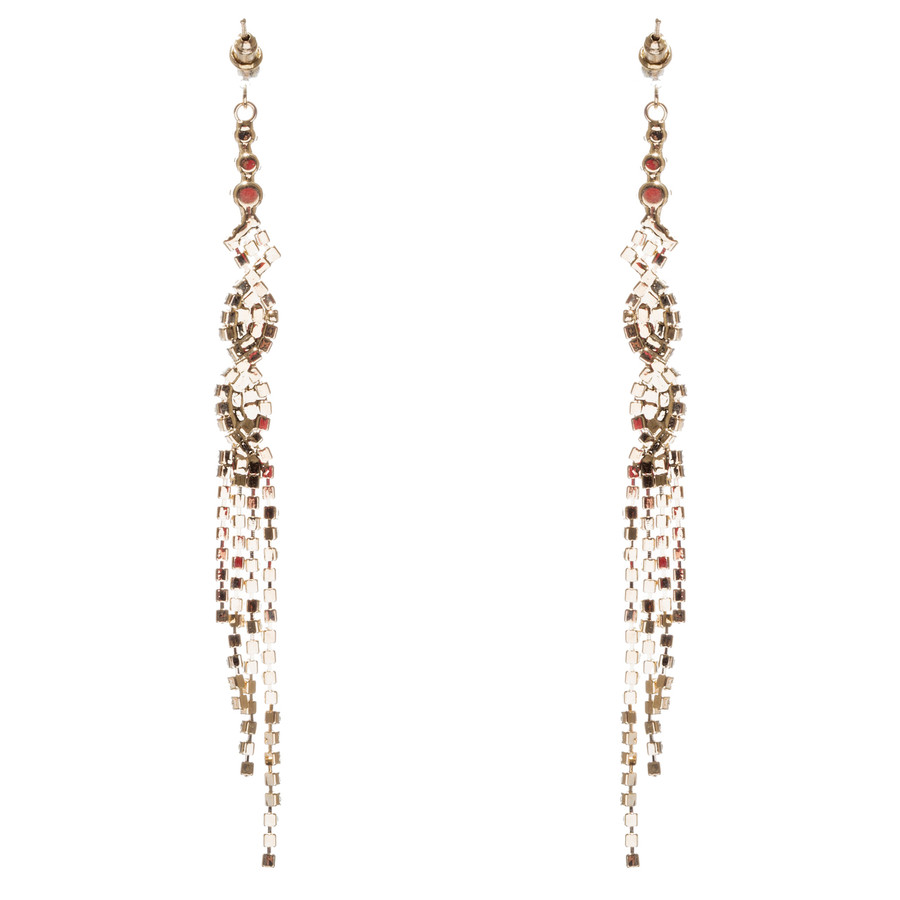 Bridal Wedding Jewelry Crystal Rhinestone Unique Long Drop Dangle Earrings E947G