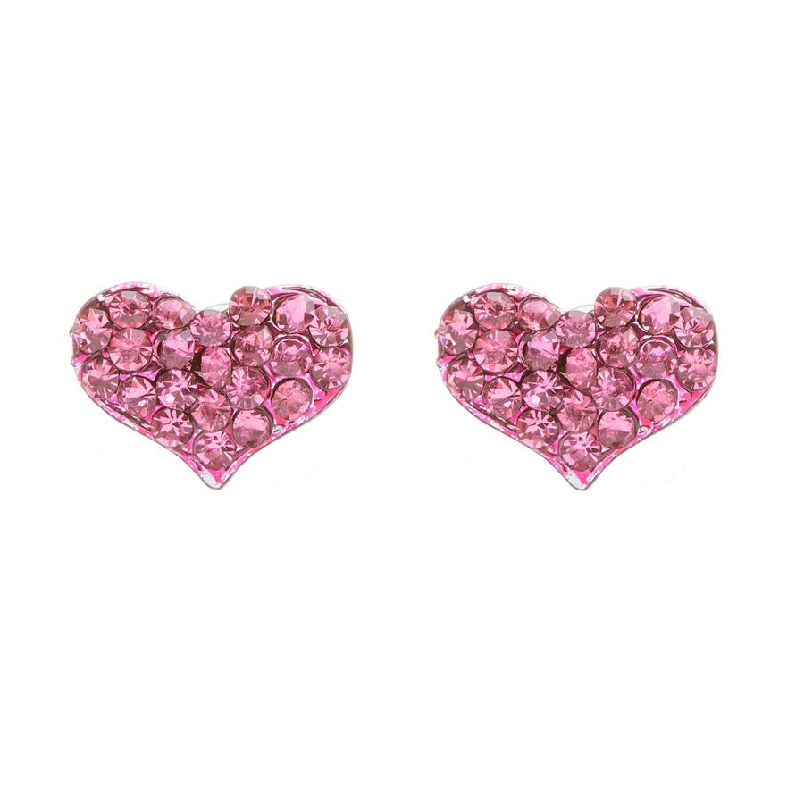 Lovely Sweet Beautiful Heart Shape Valentine's Day Necklace Set JN166 Fuchsia
