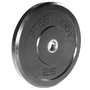 25 lbs. Olympic Bumper Plate by SteelBody to add weight to your HIIT Workout