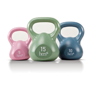 Hers 30 Lbs. Kettlebell Weight Set VKBS-30 comes in different colors