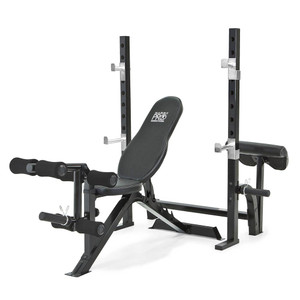 The Marcy Pro 2PC Olympic Bench | PM-842 adds variety to your workout with incline, decline, flat and Military positions