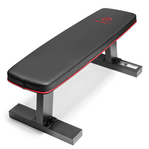 The Marcy SB-10510 Flat Bench can be utilized in home gyms for HIIT conditioning and training