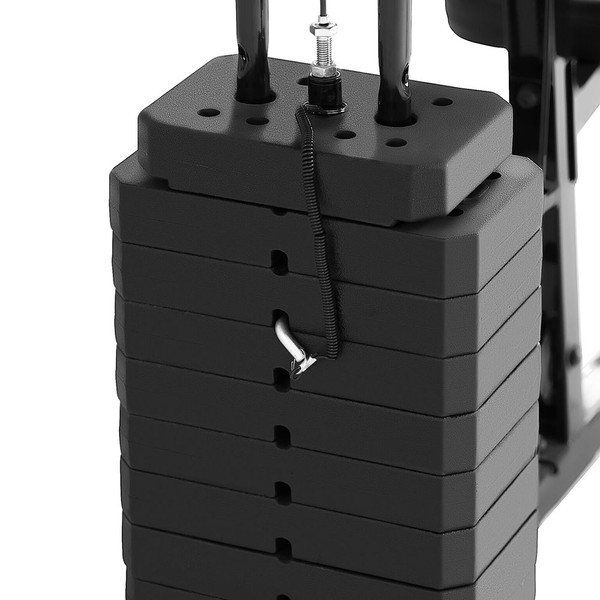 The Marcy 100 lb. Stack Home Gym MKM-81030 has adjustable weights to customize your workouts