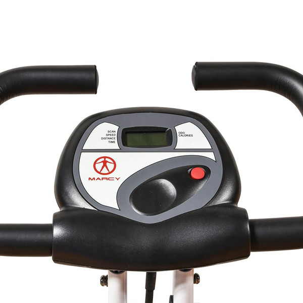 The Foldable Upright Bike Marcy NS-652 includes a monitor to track your workout