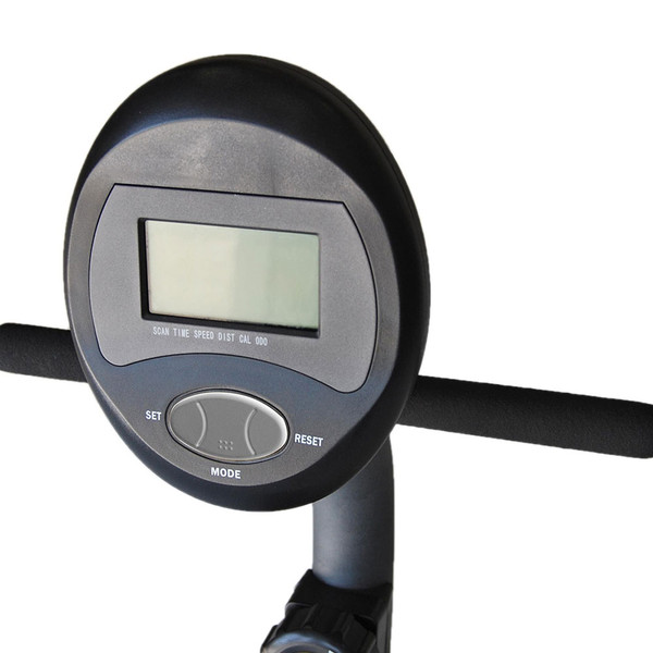 The Recumbent Bike ME-709 has a display screen to help easily keep track of your workouts