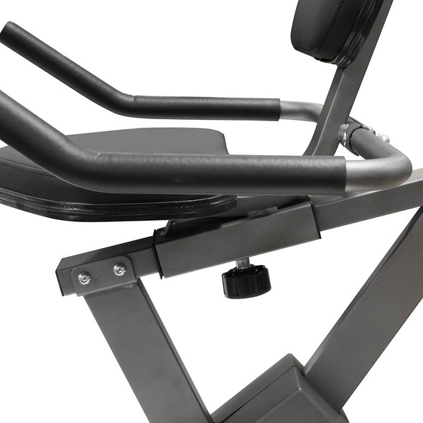 The Recumbent Bike NS-40502R by Marcy has an easily adjustable seat for people of all sizes