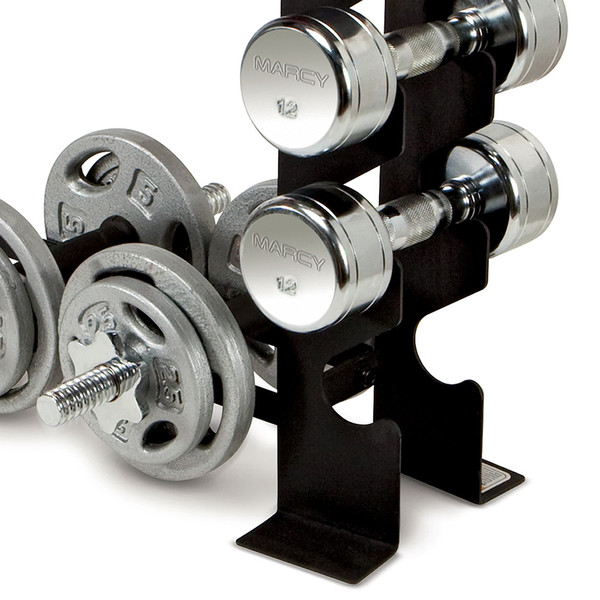 Compact Dumbbell Rack DBR-56 by Marcy prevents clutter and keeps weights off the floor