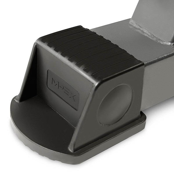 The Marcy 3 Tier Dumbbell Rack DBR-86 has Rubberized feet allow for floor protection from scratches, absorb shock for re-stacking weights, and prevents the rack from sliding.