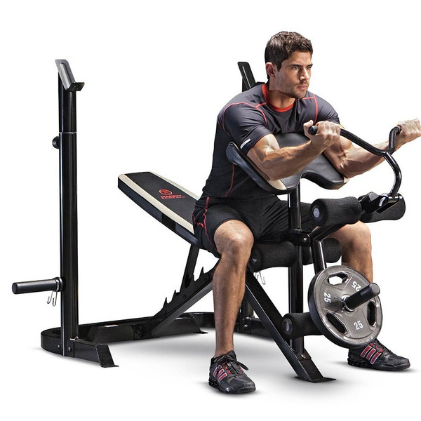 Marcy Two Piece Olympic Bench Md 879 Quality Strength