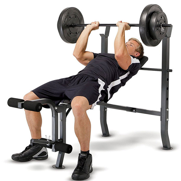 Standard Bench With 100lb Weight Set Marcy Diamond Elite