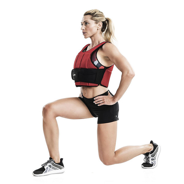 Bionic Body 15 lb. Weighted Vest in use by Kim Lyons - Lunge