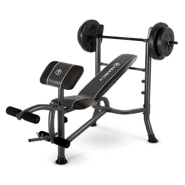 The Marcy Standard Weight Bench with 80-lb. Weight Set MWB-20101 is essential to create the best home gym!