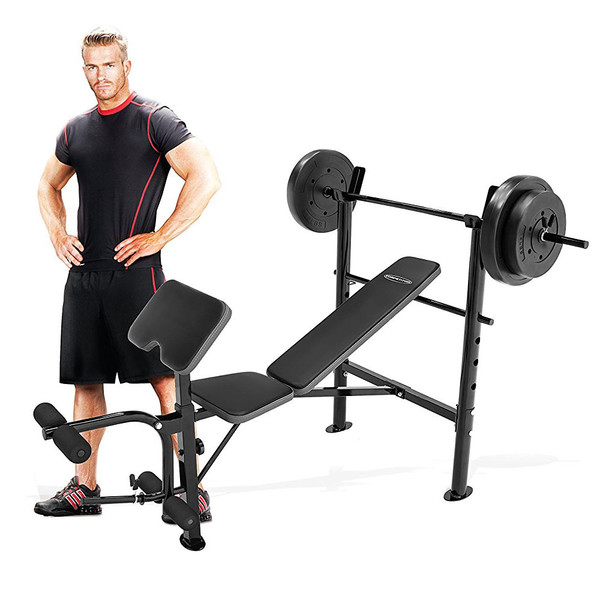 bench marcy md competitor squat workout leg rack bhp ebay adjustable extension olympic flvuw weight