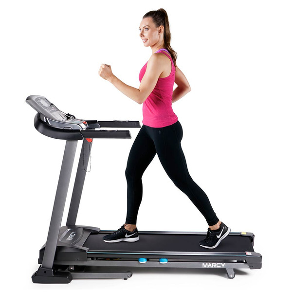 The Marcy Motorized Treadmill With Auto Incline JX-663SW is a convenient machine  for getting an intense cardio workout