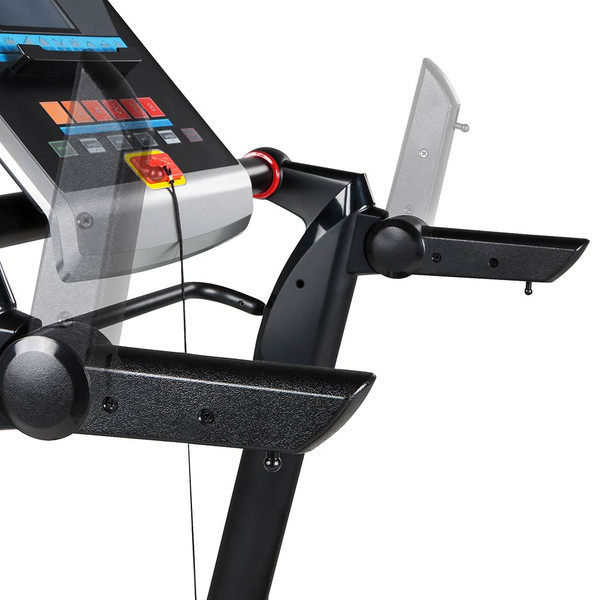 The Marcy Easy Folding Motorized Treadmill JX-651BW includes handles so you can push your run to the limit