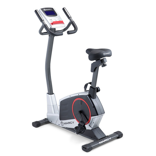 Regenerating Magnetic Upright Exercise Bike Marcy ME-702 back side view