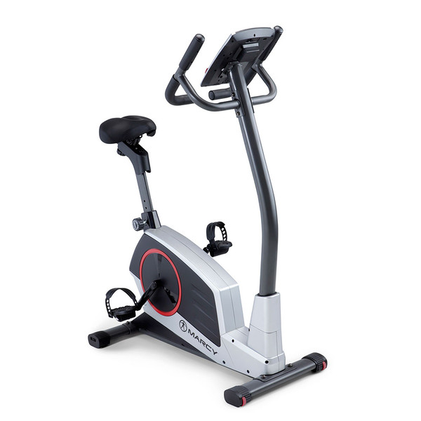 Regenerating Magnetic Upright Exercise Bike Marcy ME-702  front side view