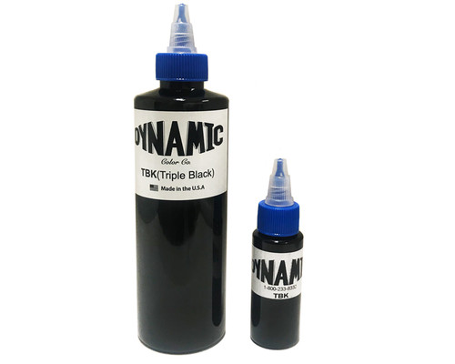 Dynamic Triple Black Tattoo Ink — 8oz Bottle