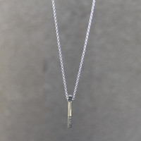 Silver plated brass textured pendant