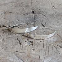 Unique silver hoop earrings