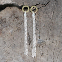 Brass with silver chain
