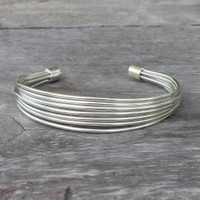 adjustable silver cuff