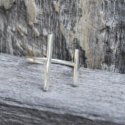 Sterling silver minimalist ring
