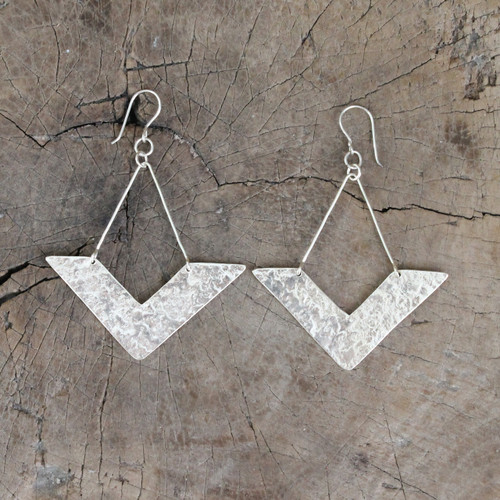 Handmade, unique silver earrings