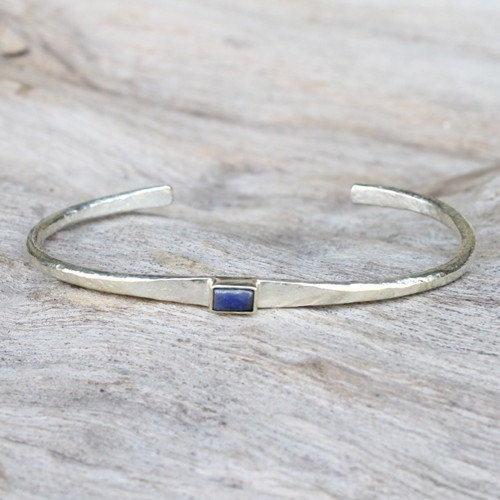 silver with lapis lazuli