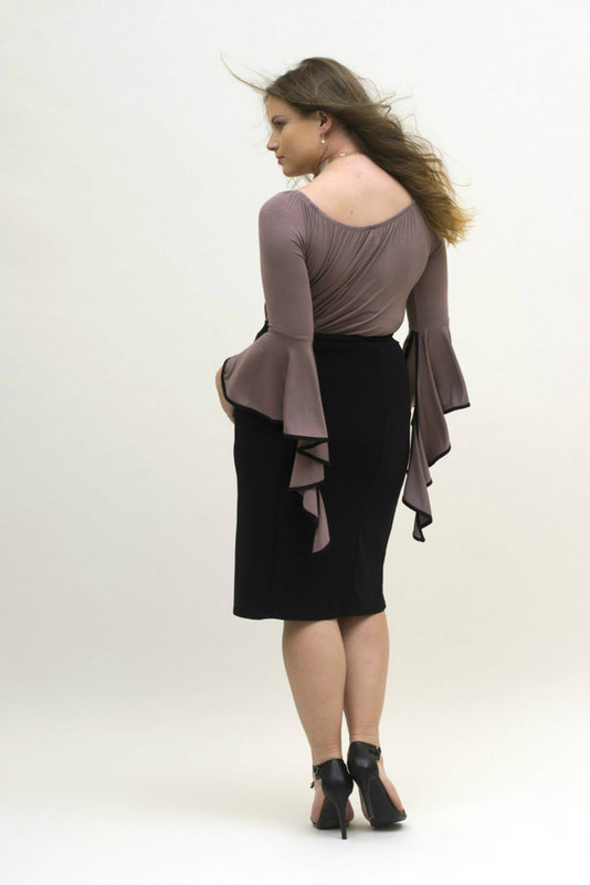 Mocha Draped Sleeved Tunic
